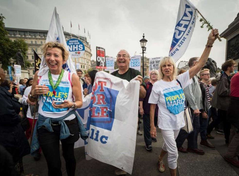 State support: Thousands of people marched through central London