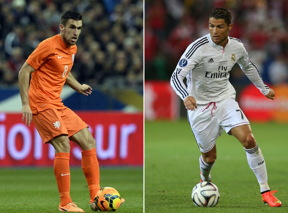 Kevin Strootman and Cristiano Ronaldo