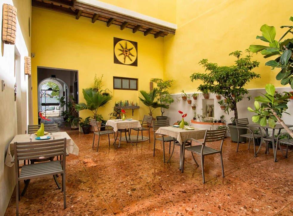 Casa Sol's breakfast patio