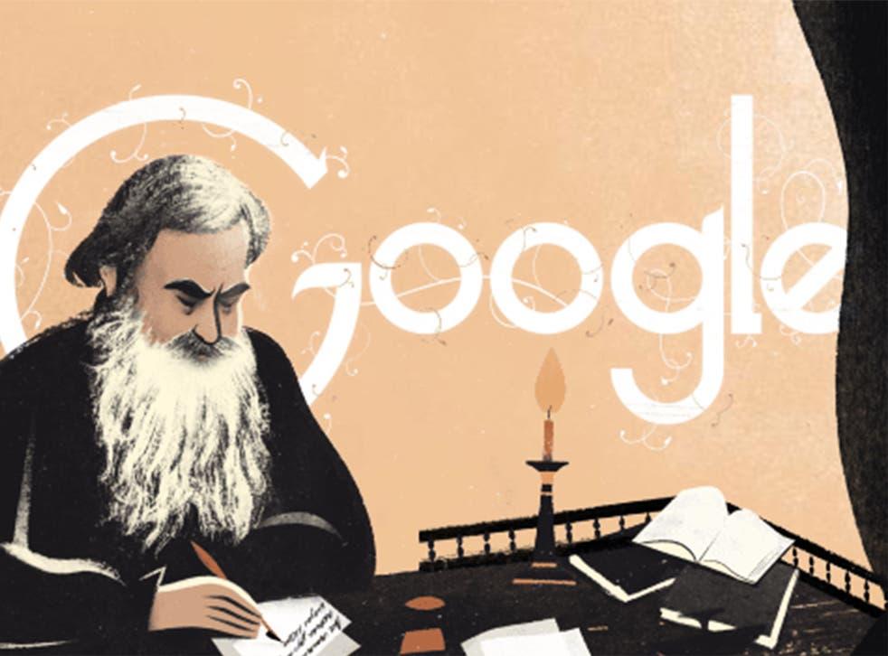 Google Doodle commemorates the life of novelist Leo Tolstoy