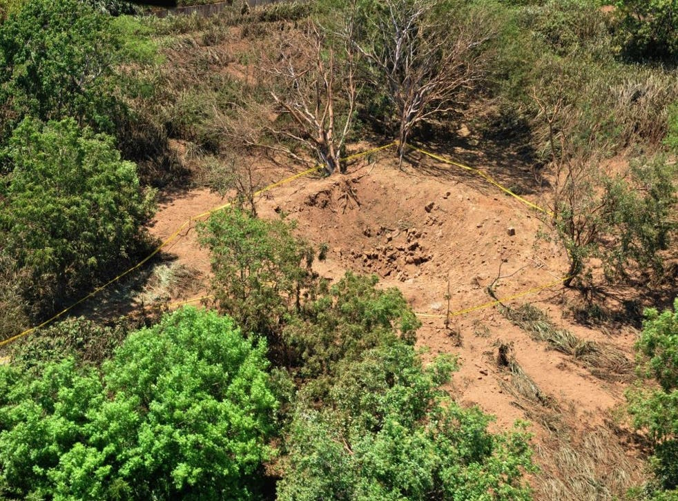 An impact crater made by a small meteorite in a wooded area near Managua's international airport and an air force base.