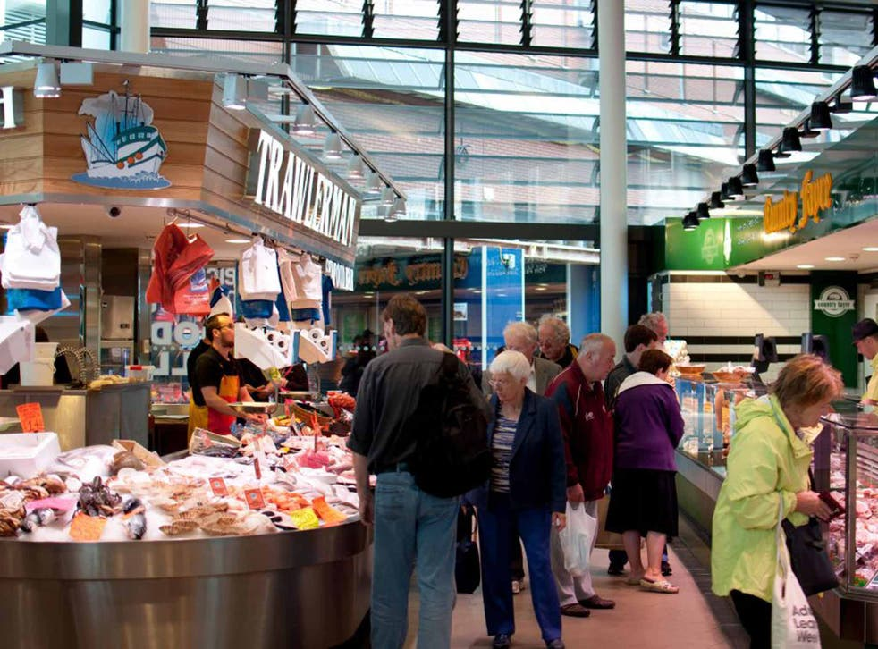 The newly reopened Leicester Food Hall