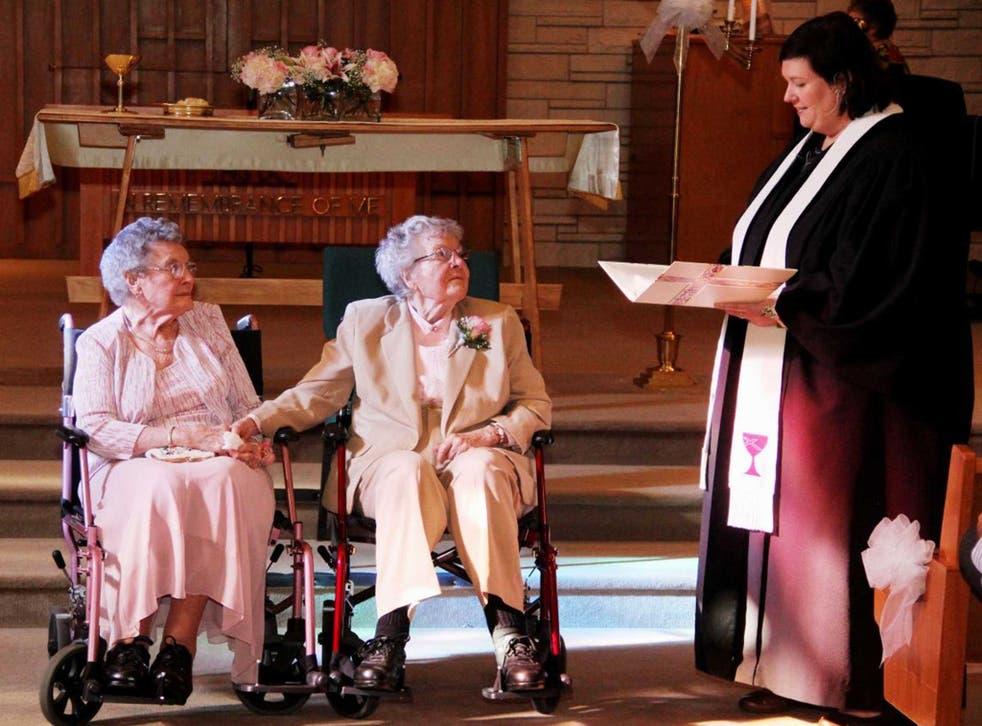 Vivian Boyack, 91, and Alice Dubes, 90