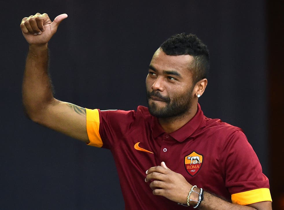 Ashley Cole in action for Roma