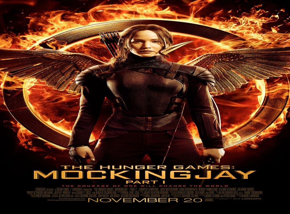 Jennifer Lawrence as Katniss Everdeen in her final Hunger Games: Mockingjay Part 1 poster