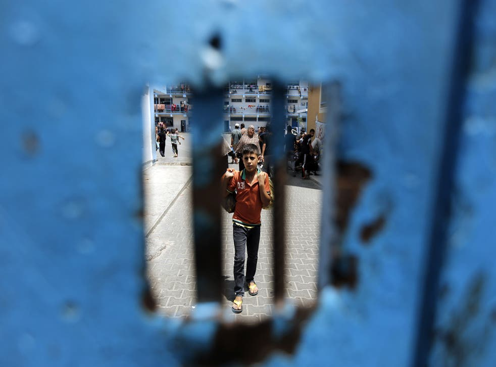 A 'commonality of suffering': a displaced Palestinian boy in Beit Lahia, Gaza