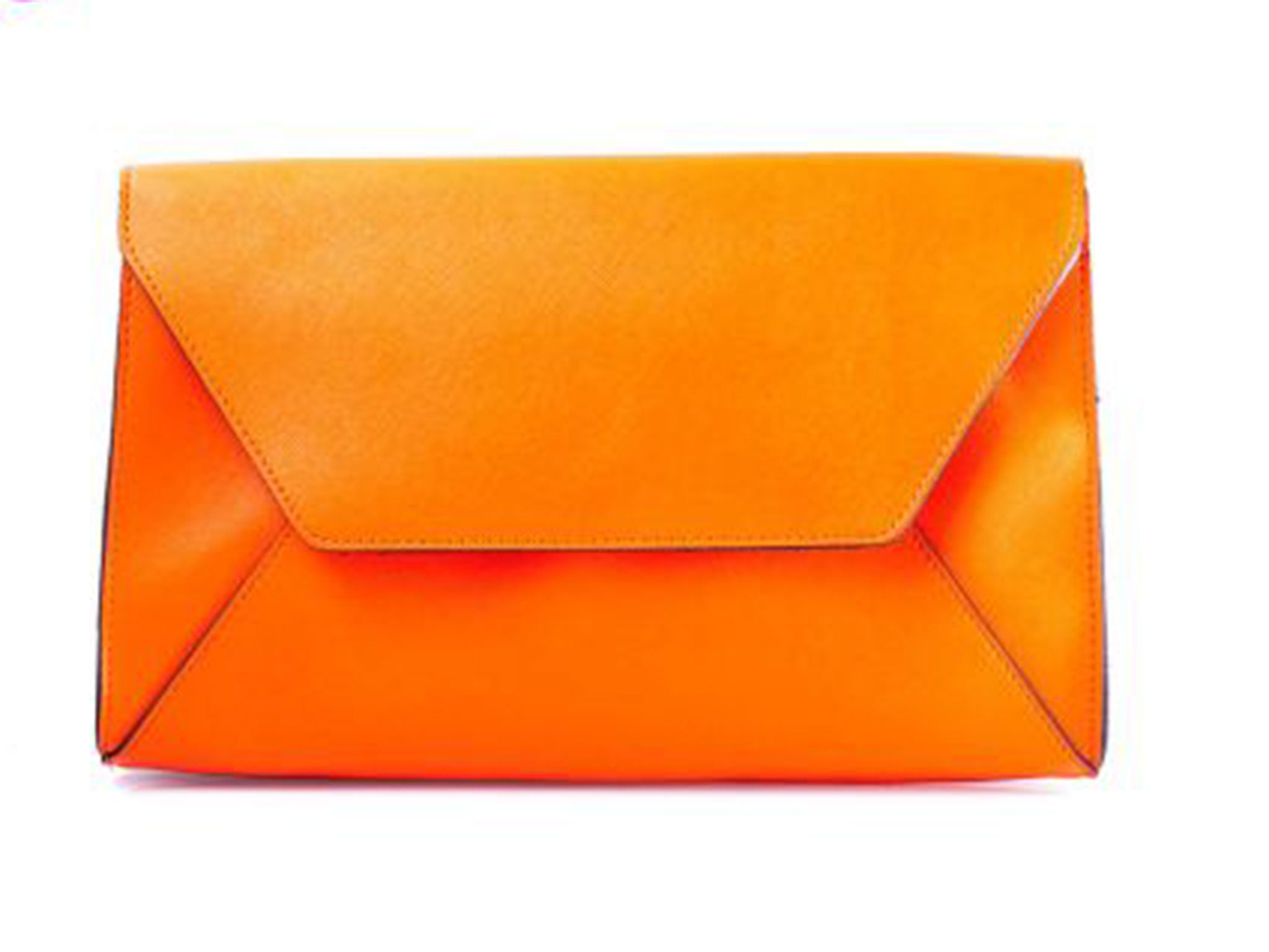 67c2a00a20514 Accessoryo Orange Envelope Style Clutch