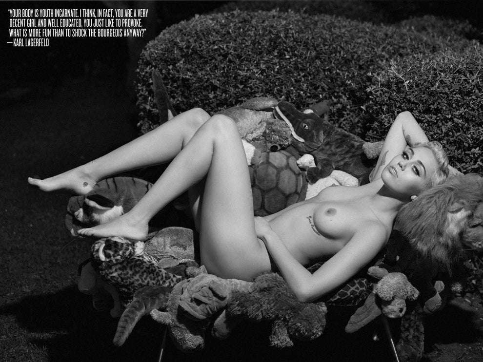 Miley Cyrus Strips Naked For V Magazine