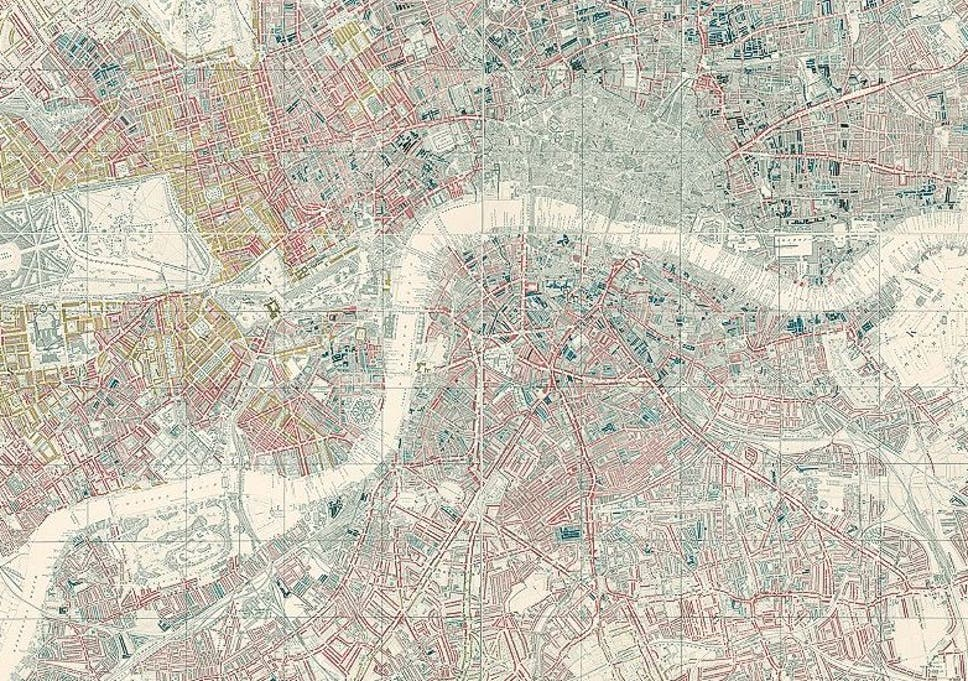 Map Of City Of London Uk.London S First Poverty Map In 1899 Shows A Very Different City To