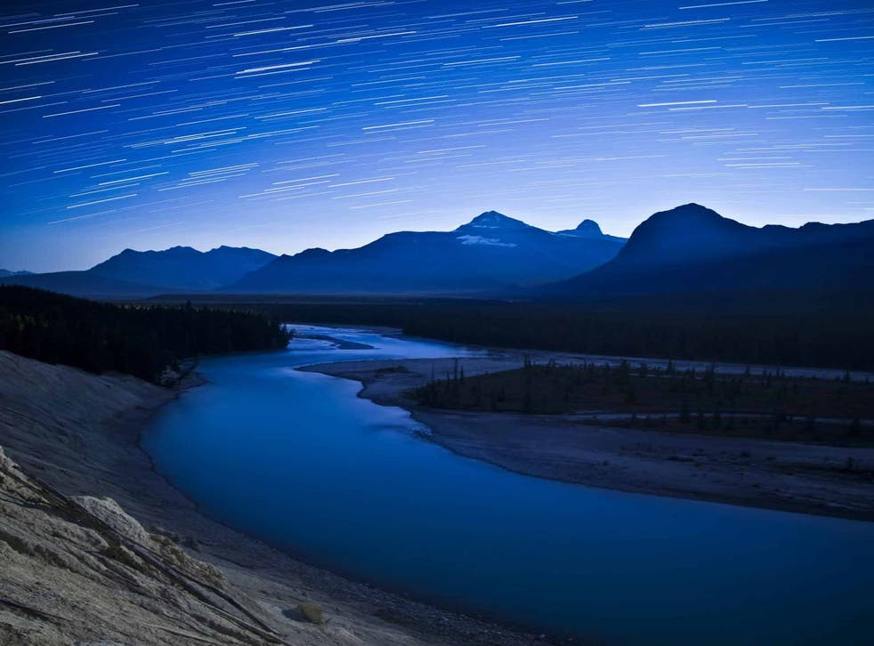 Starstruck: night sky at the Athabasca Valley in Canada's Jasper National Park