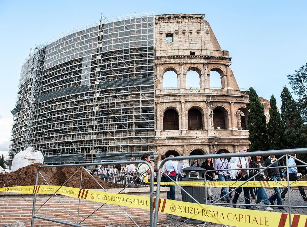 Concerns have been raised over  the state of Rome's iconic monuments