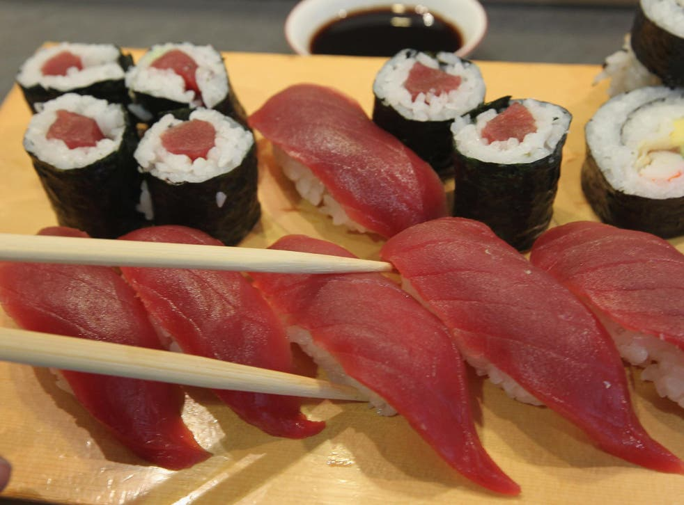Raw fish can be contaminated by tapeworm larvae