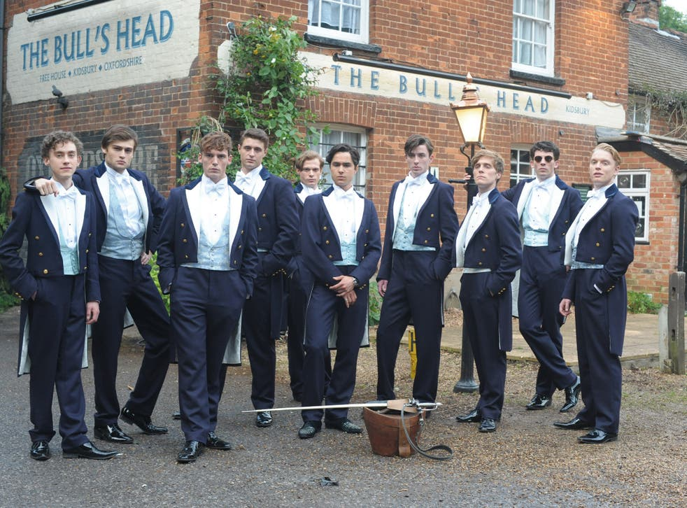 A still from the Riot Club, which depicts an elite dining club