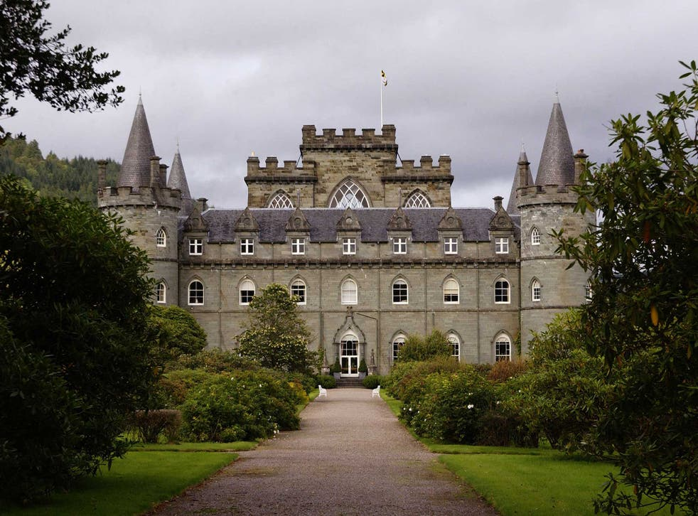 Inveraray Castle, west Scotland, the centrepiece of a 60,000 acre estate
