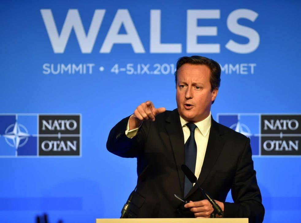David Cameron taking questions at the Nato summit in Newport earlier this month