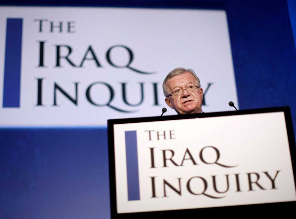 John Chilcot announcing the terms of reference of his inquiry into the causes of the Iraq war in 2009
