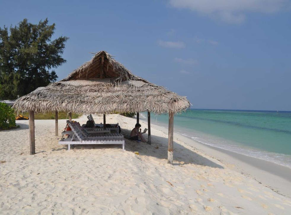 One of the Maldives' unspoilt beaches