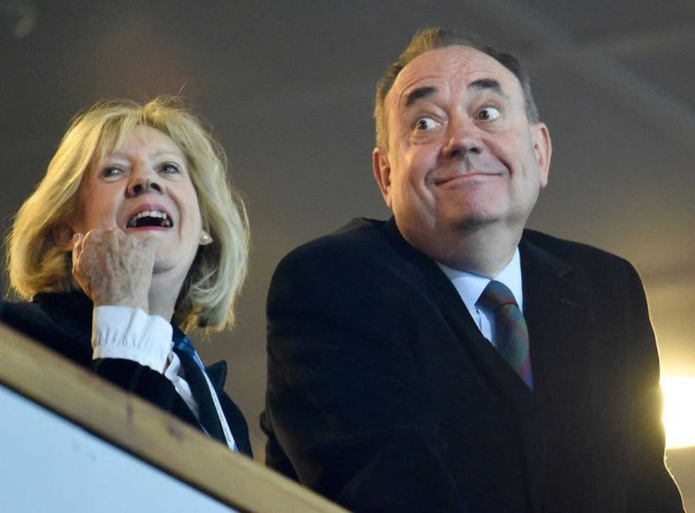 Eyes have it: A Yes vote will make Moira Salmond (left, with her husband) Scotland's First Lady