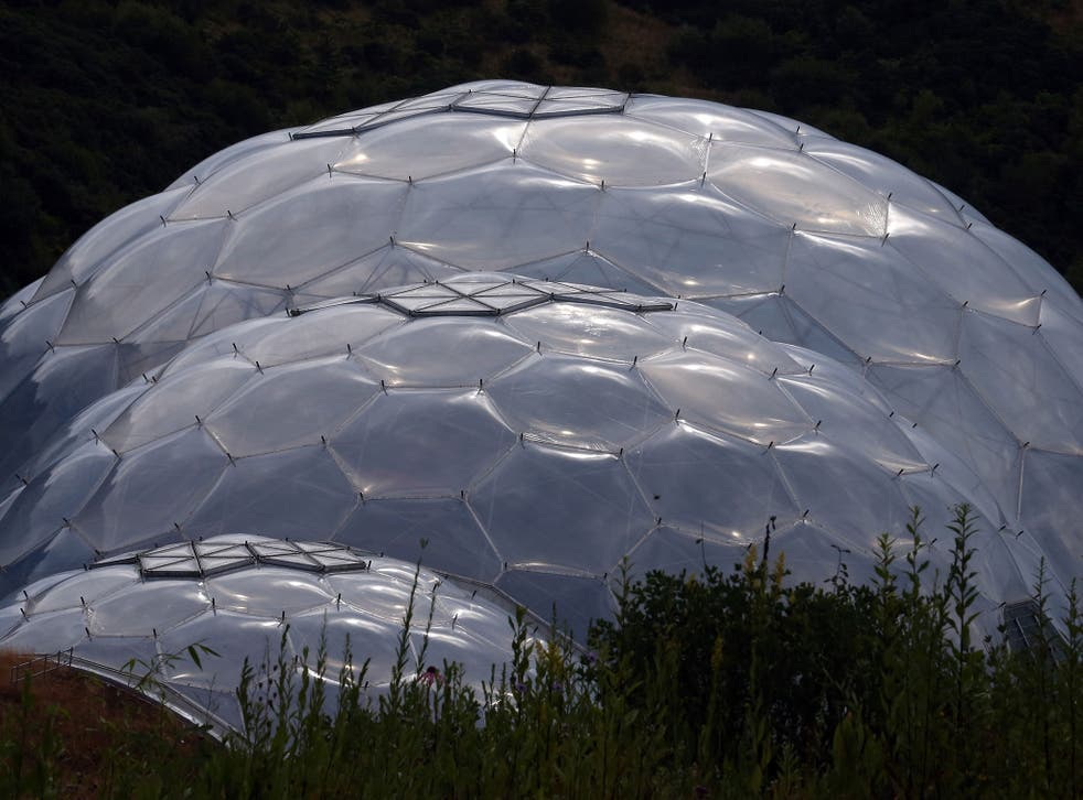The Eden Project of exotic ecosystem-domes in Cornwall and hopes to prompt a 'tipping point' in climate action
