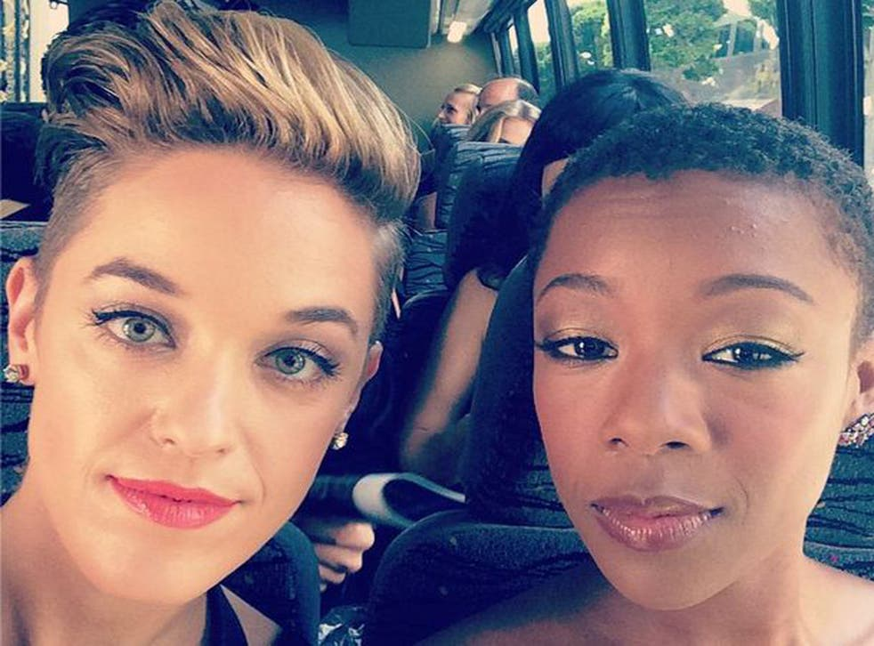 Lauren Morelli and Samira Wiley made their first public appearance together at the Emmy Awards in August 2014