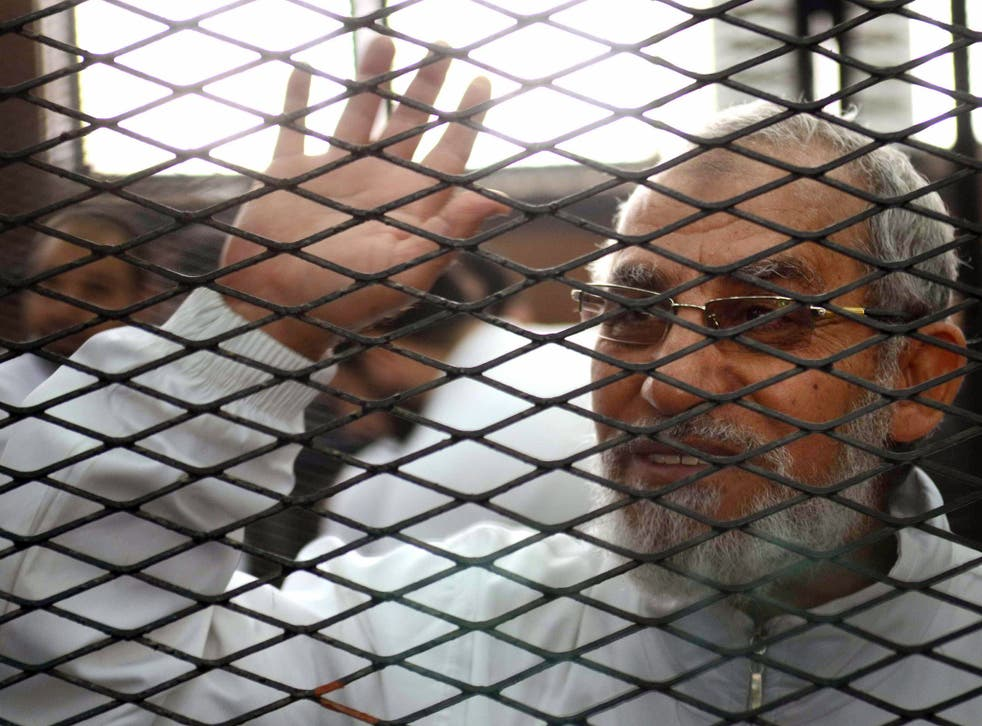 Mohamed Badie and 13 others were sentenced to life in jail on charges of murder and inciting violence
