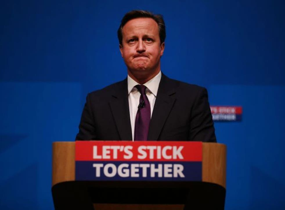 David Cameron addresses No campagn supporters in Aberdeen