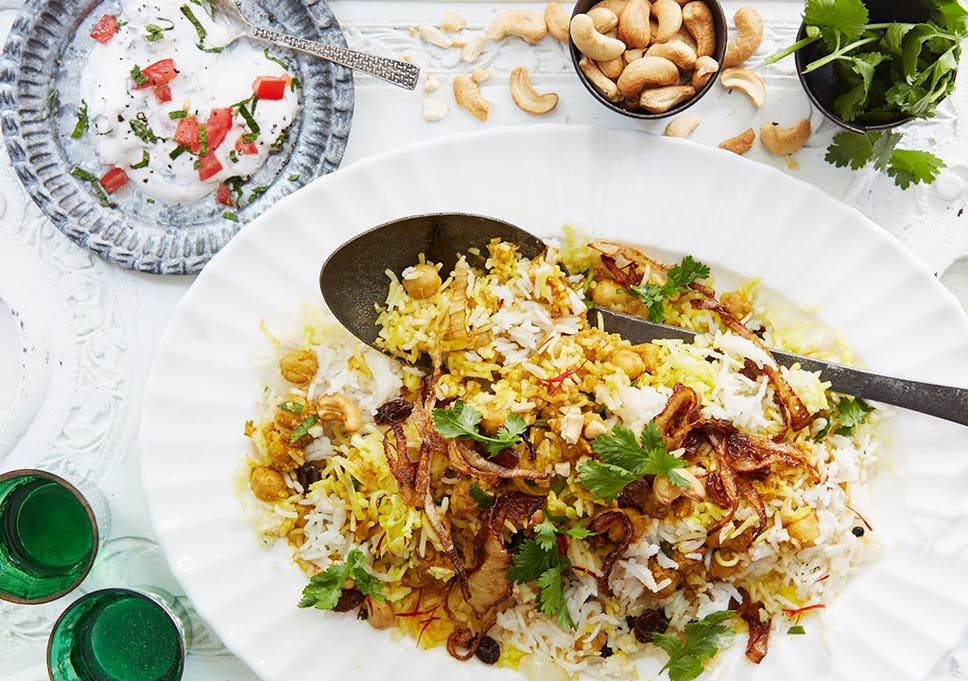National Curry Week Chickpea Biryani Recipe The Independent