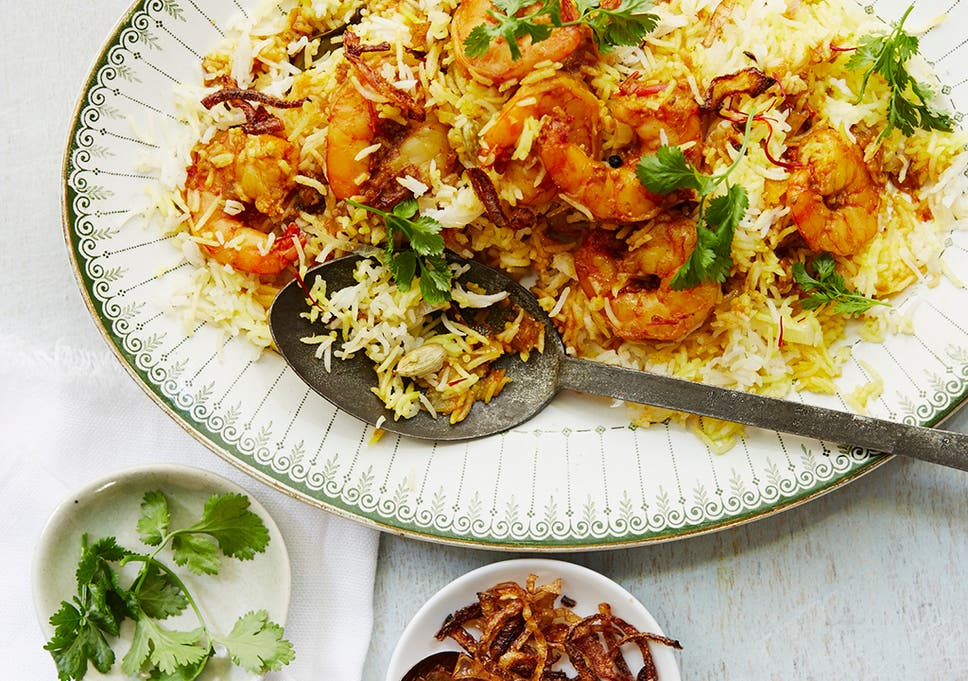 National Curry Week Malabar Prawn Biryani Recipe The