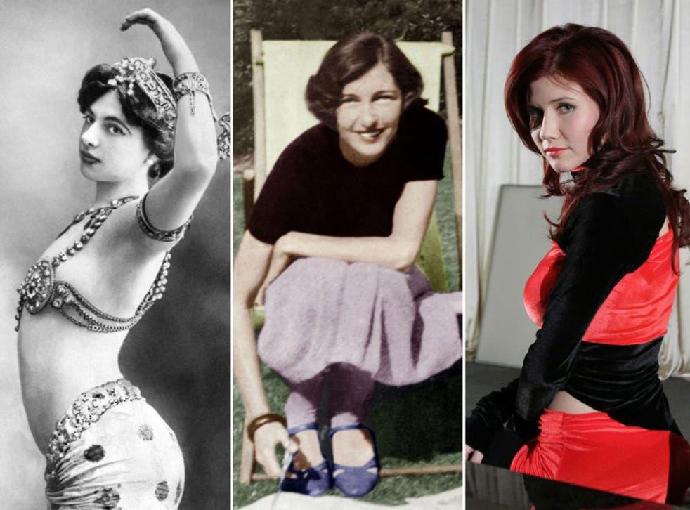 From left to right: Mata Hari, Christine Granville, Anna Chapman