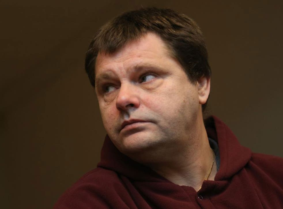 Belgium's Frank Van Den Bleeken attending a hearing to determine if he will be allowed to be euthanised, at the Court of Brussels.