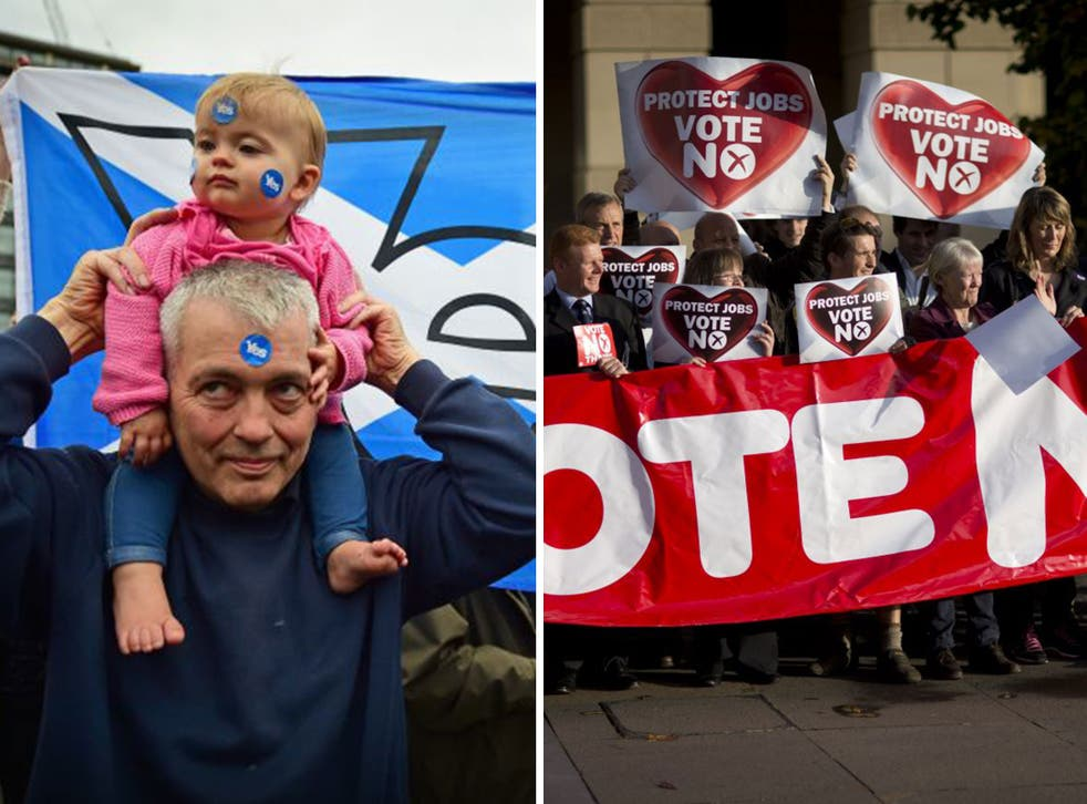 Both opinion polls put the No campaign on 52 per cent, with support for Yes on 48 per cent