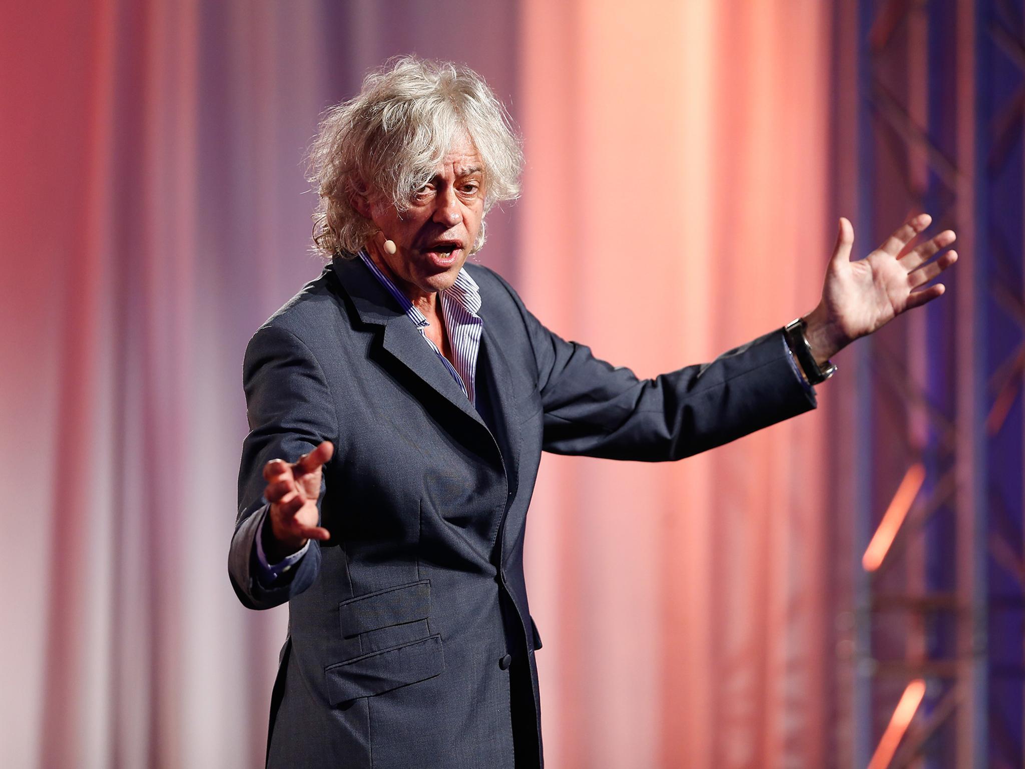 On Bob Geldof: