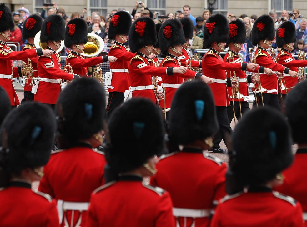 A symbol of Britain's imperial pomp: The Coldstream Guards march