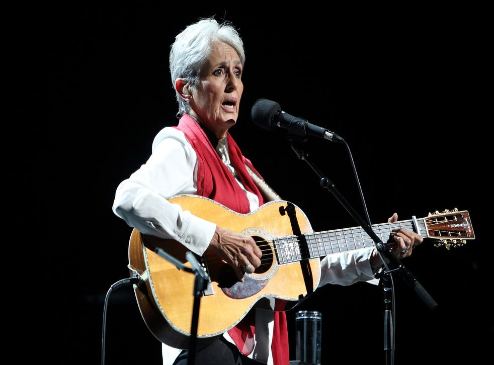 Joan Baez performs on stage at London's Southbank Centre
