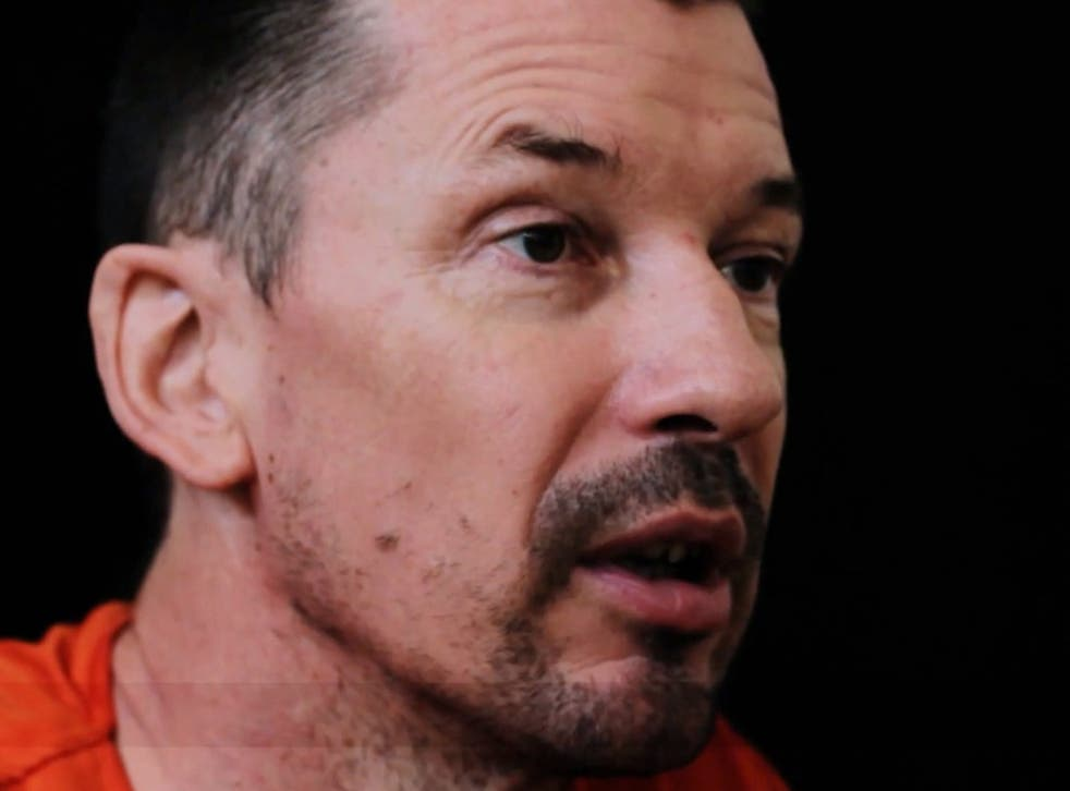 An image grab of journalist John Cantlie taken from a video released by the Islamic State (IS) group through Al-Furqan Media via YouTube