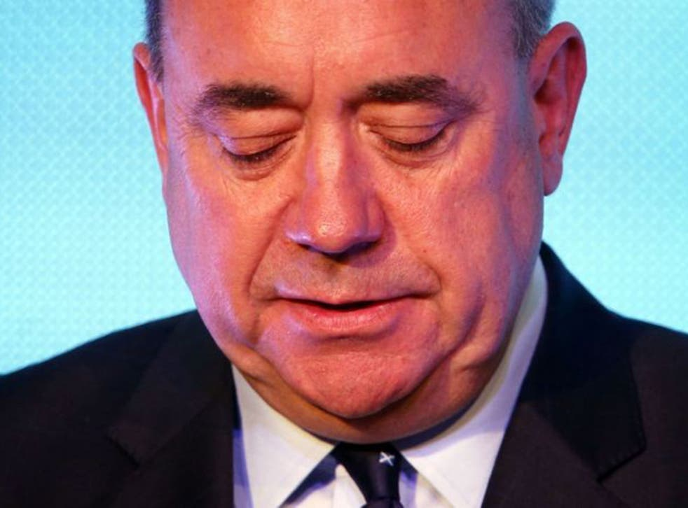 Alex Salmond has announced he is to stand down as the leader of the Scottish National Party after losing the independence vote at the Scottish referendum.