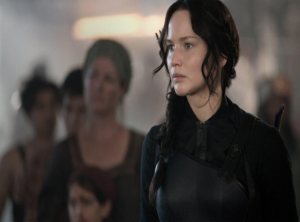 Jennifer Lawrence plays Katniss Everdeen in The Hunger Games: Mockingjay Part 1