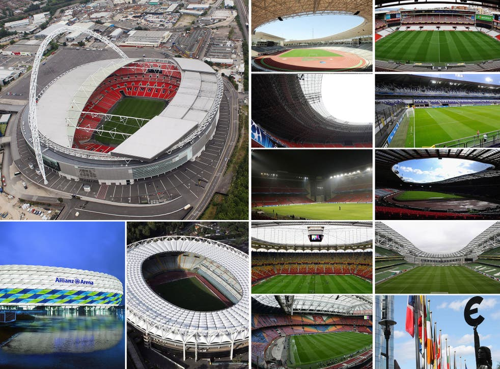 The Stadiums that will host the 2020 European Championships
