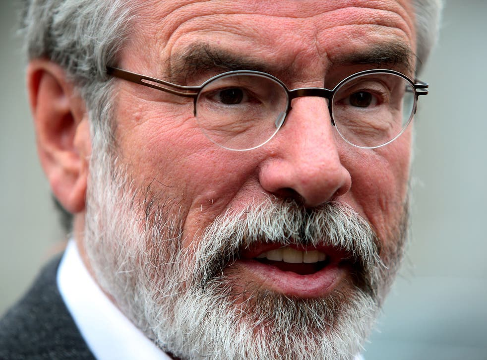 Sinn Fein leader Gerry Adams and his party were left disappointed by the result of the referendum