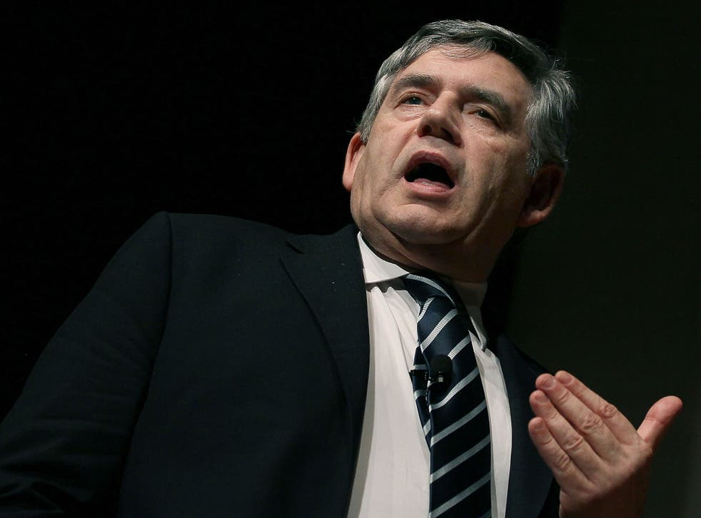 Gordon Brown addressed his Fife constituency on Saturday on the impact of the No vote