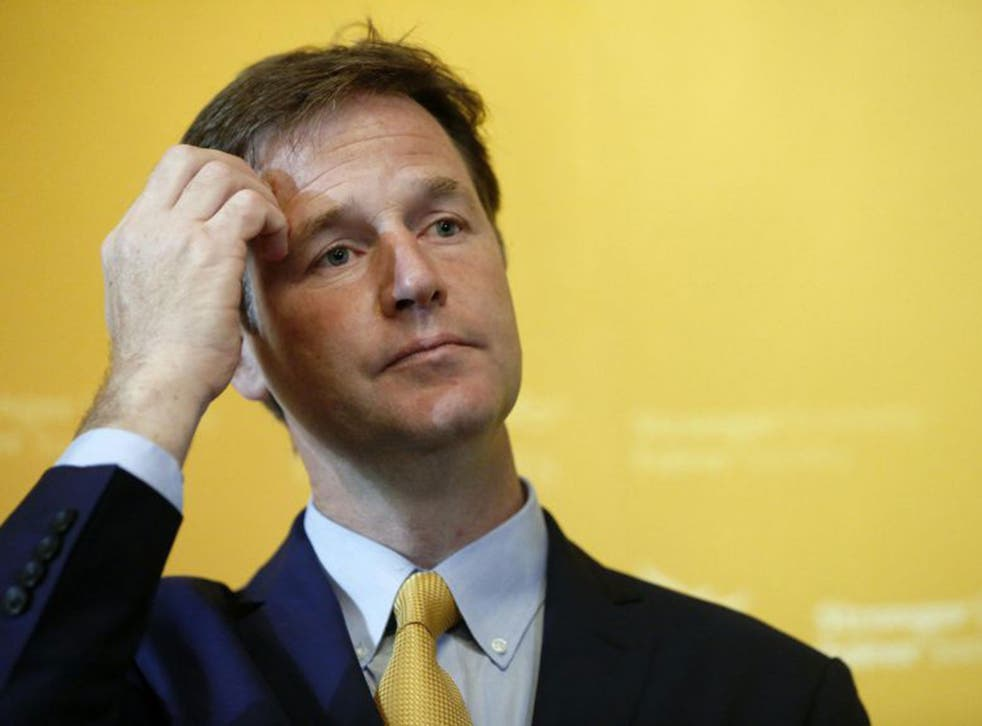 Broken pledge: Clegg says Tory rebels defied coalition contract