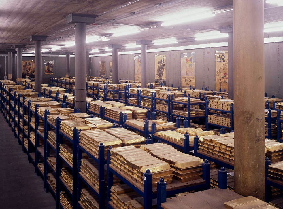 Gold ingots at the Bank of England help underpin the pound and government debt