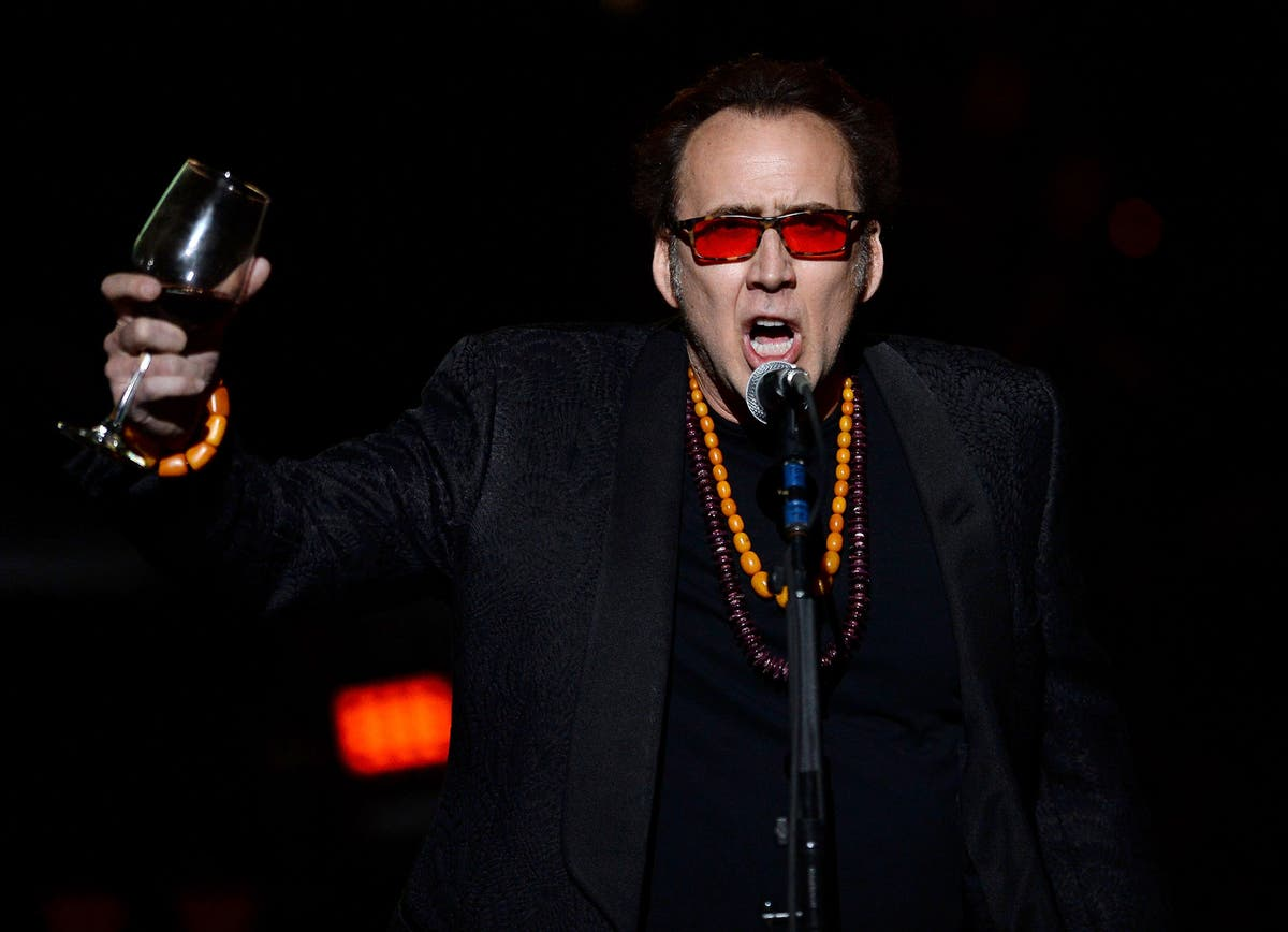 Nic Cage crashed a Nic Cage festival, read a short story in very Nic Cage way