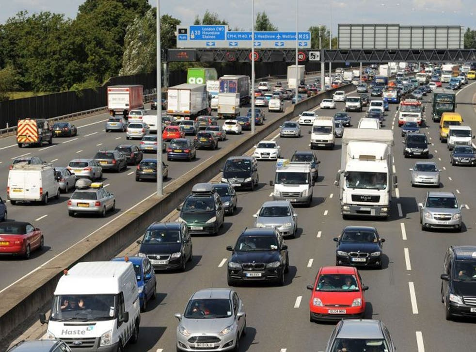 Traffic was slowed between junctions 12 and 13 of the M25 (stock image)