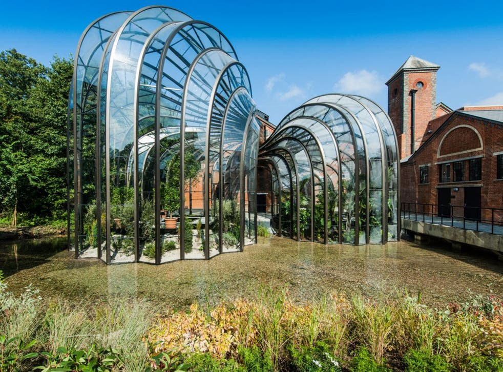 The Bombay Saphire distillery's botanical glasshouses have been created by Thomas Heatherwick