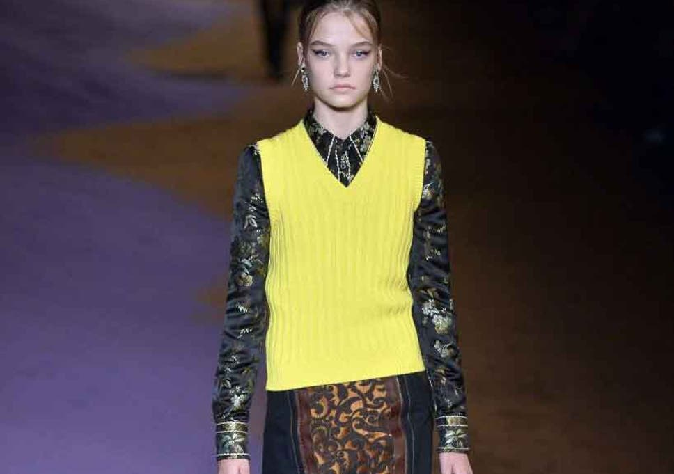 62ecbe9164f2 Prada sparks controversy after a 14 year old model appeared on the catwalk  during Milan Fashion Week