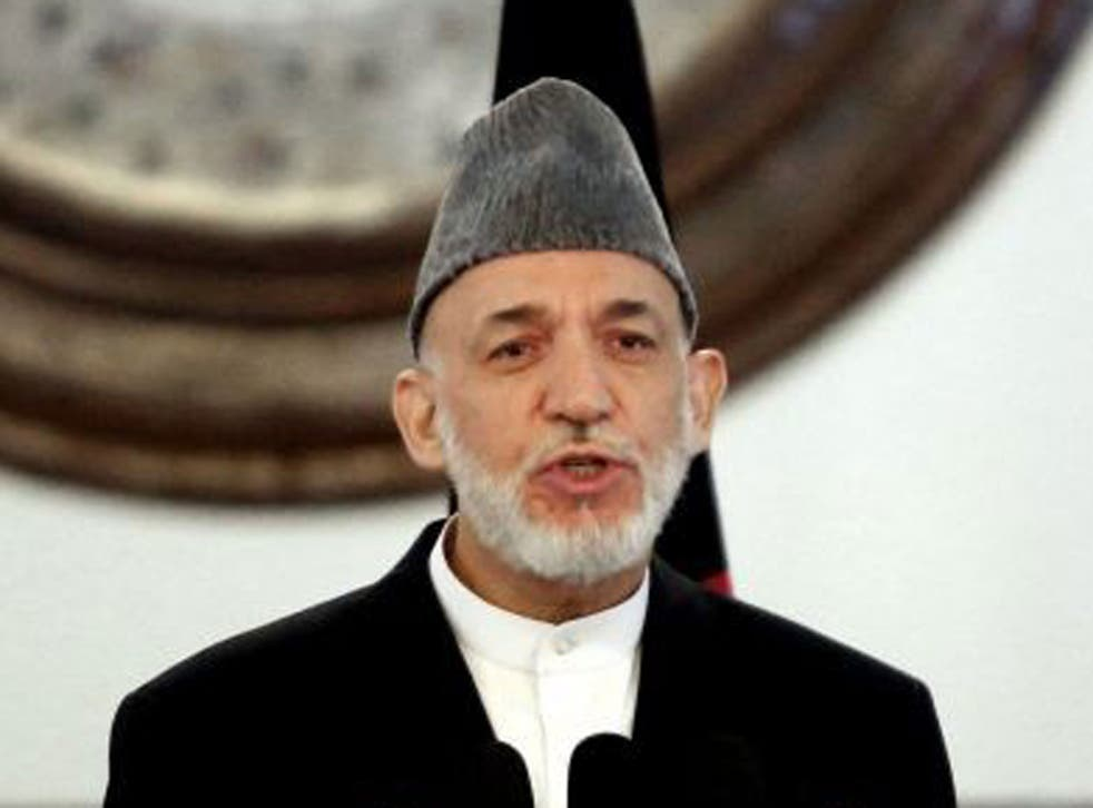 Hamid Karzai refused to sign an agreement with the US to allow 10,000 military advisers to stay