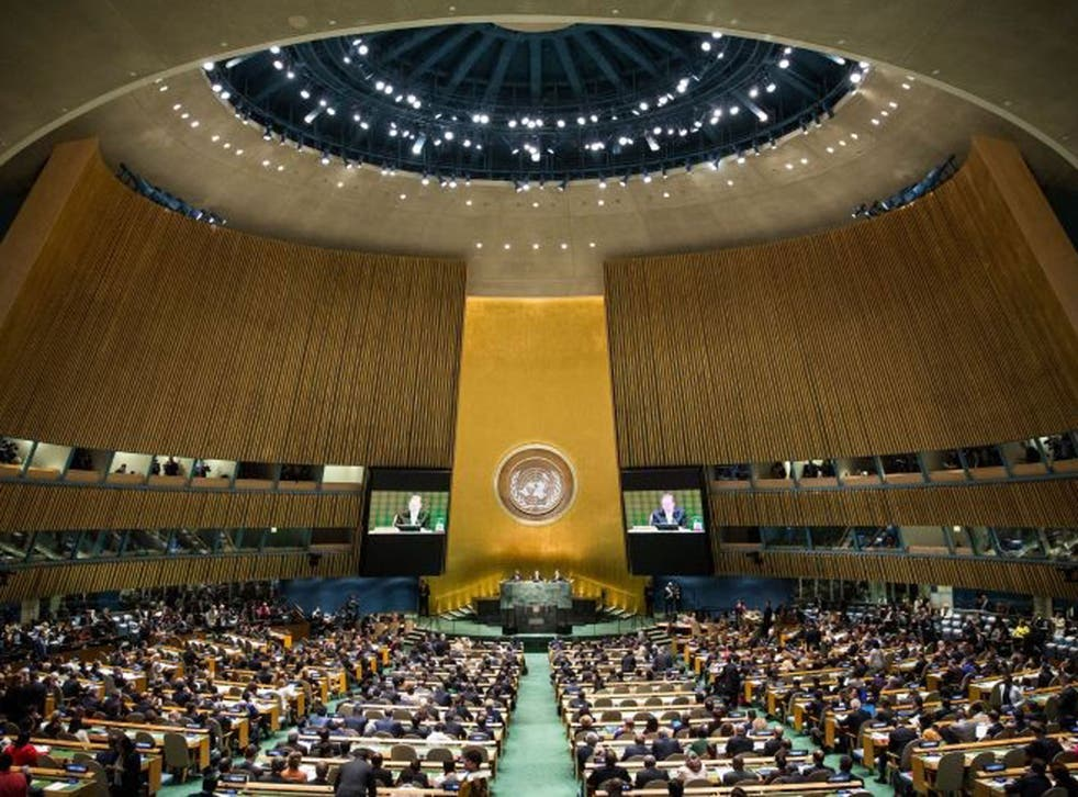 United Nations Secretary General Ban Ki-Moon speaks at the UN Climate Summit