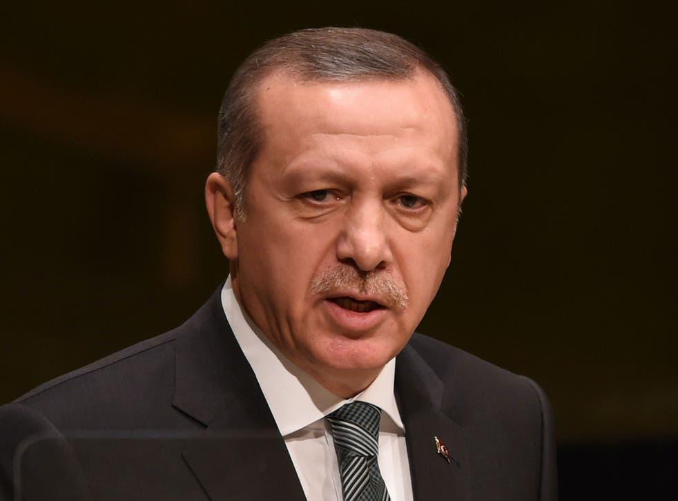 Turkish President Recep Tayyib Erdogan