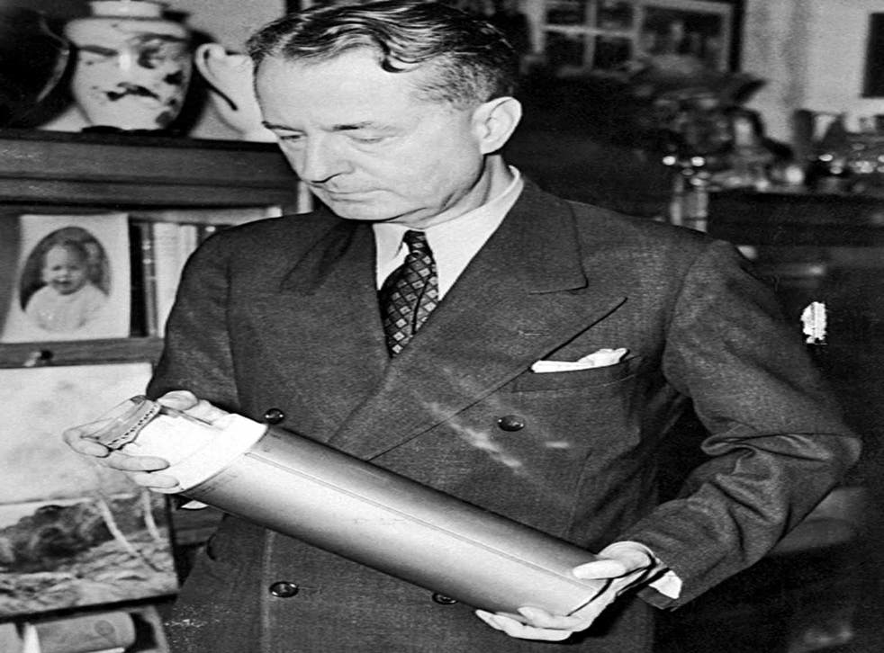 Capsule collection: Dr Thornwell Jacobs at the Crypt of Civilization in 1940